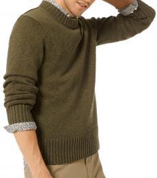 Michael Kors Olive Cotton Linen Pullover