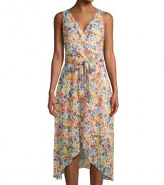 Karl Lagerfeld Multi color Floral-Print Wrap Dress