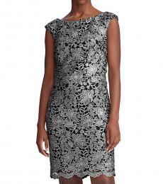 Black/Silver Lace Sheath Dress