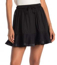 Rebecca Minkoff Black Evaline Ruffle Hem Mini Skirt