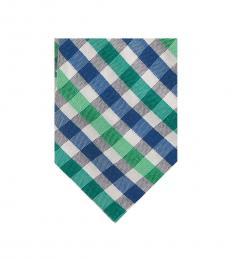 Ted Baker Green-Navy Plaid Tie