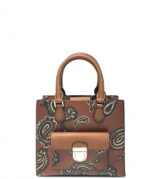 Michael Kors Luggage Bridgette Paisley Small Satchel