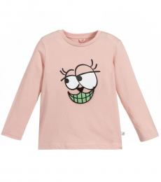 Little Girls Pink Graphic T-Shirt