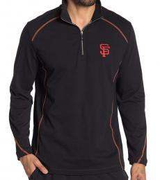 Tommy Bahama Black-Home Run Half-Zip Sweatshirt