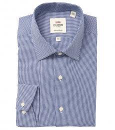 Ben Sherman Blue Tailored Slim Fit Dress Shirt