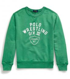 Ralph Lauren Boys Raft Green French Terry Sweatshirt