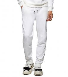 White Darted Jogger