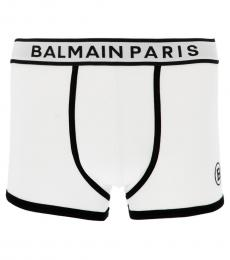 Balmain White Logo Boxer Brief
