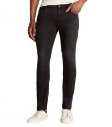 Diesel Black Thommer Skinny Slim Jeans