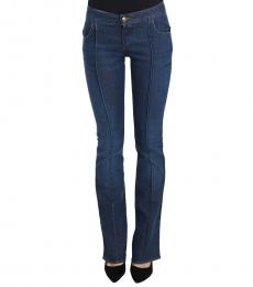 Just Cavalli Blue Low Waist Boot Cut Jeans