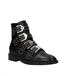 Black Studded Multi Strap Boots