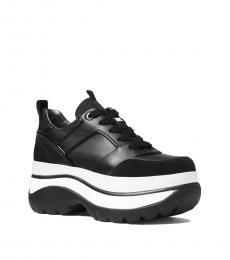 Michael Kors Black Felicia Platform Sneakers
