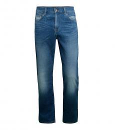 7 For All Mankind Aficionado Slim-Fit Faded Jeans