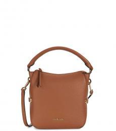 Light Brown Logo Medium Crossbody Bag