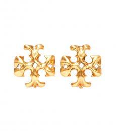 Tory Burch Rolled Brass Roxanne Stud Earrings