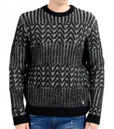 Black Grey Heavy Knitted Sweater