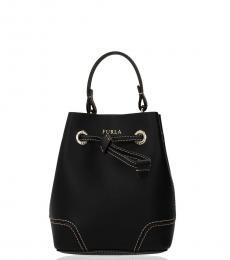 Furla Black Stacy Mini Bucket Bag