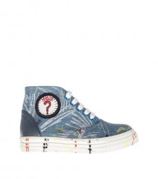 Stella McCartney Blue Denim Gonzales Sneakers