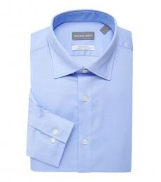 Powder Blue Regular Fit Airsoft Dress Shirt
