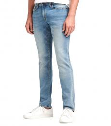 Light Indigo Slim-Straight Jeans