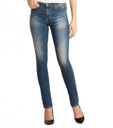 AG Adriano Goldschmied Blue Straight Jeans