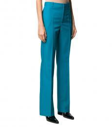 Blue Wide-Leg Trousers