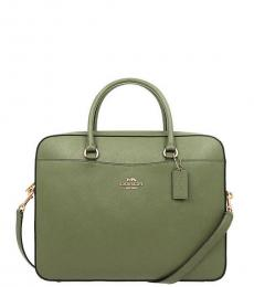 Coach Military Green Laptop Large Briefcase Bag