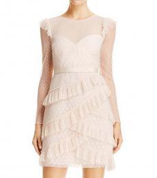 Regal Ruffled Mesh Dress