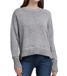 Grey Drop-Shoulder Sweater