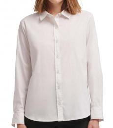 White Oxford Button-Up Shirt
