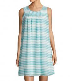 Sea Spray Sleeveless Striped Shift Dress