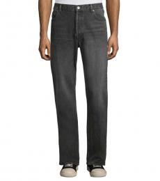 Balenciaga Dark Grey Relaxed-Fit Jeans