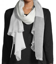 Calvin Klein Black-Grey Coloblock Plaid Scarf
