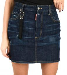 Dsquared2 Dark Blue Denim Mini Skirt