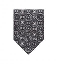 Ted Baker Grey-White Medallion Silk Tie