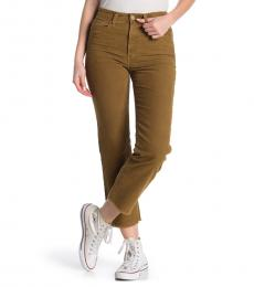 AG Adriano Goldschmied Brown Rhett High -Rise Corduroy Jeans