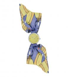 Furla Multi-Colored Silk Wrap Watch