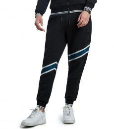 True Religion Black Striped Jogger