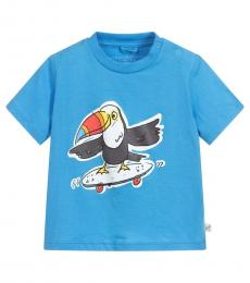 Stella McCartney Baby Boys Blue Toucan T-Shirt