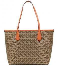 Michael Kors Brown Tangerine Candy Large Tote