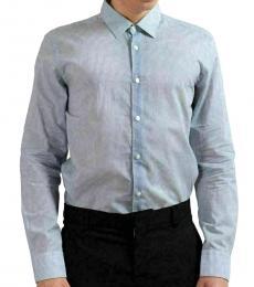 Blue Slim Fit Striped Casual Shirt