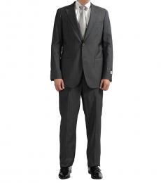 Armani Collezioni Grey Classic Fit Wool Suit