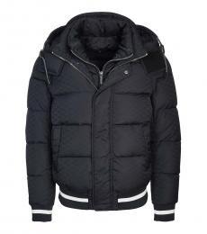 Emporio Armani Blue Silver Puffer Down Jacket