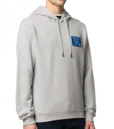 Light Grey Cotton Logo Patch Sweatshirt