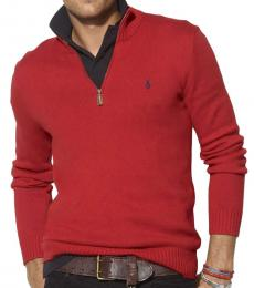 Red Half-Zip Sweater