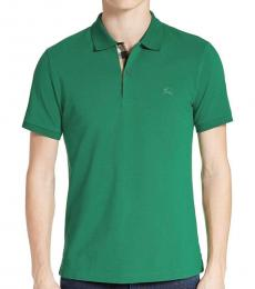 Burberry Bright Forest Green Classic Fit Polo