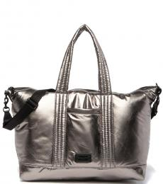 Rebecca Minkoff Silver Puffy Weekend Large Tote
