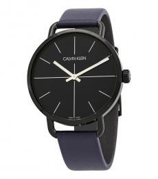 Blue Black Dial Watch