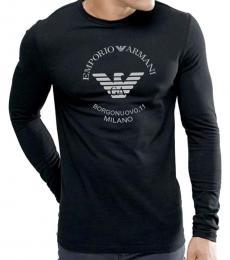 Emporio Armani Black Eagle Logo Long Sleeve T-Shirt