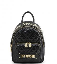 Black Top Logo Small Backpack